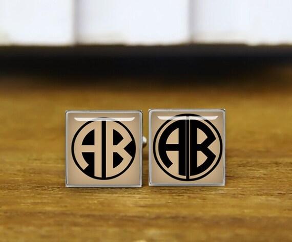 initial cufflinks, monogram cufflinks, personalized cufflinks, 2-3 letters, custom wedding cufflinks, round, square cufflinks, tie clips