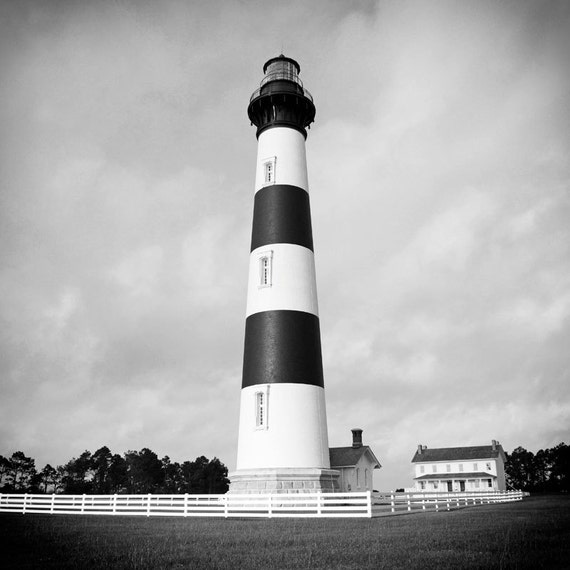 Lighthouse Black And White Photography Summer Bodie Island