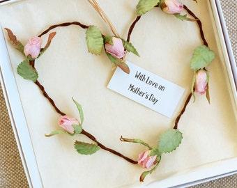 Mother's Day Paper Rosebud Heart