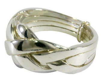 Puzzle ring in 925 Sterling silver - 4 bands
