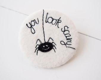 Spider Pocket Mirror - Halloween Pocket Mirror - Halloween Party Favour - Pocket Mirror - Compact Mirror - Halloween Gift - Halloween Party