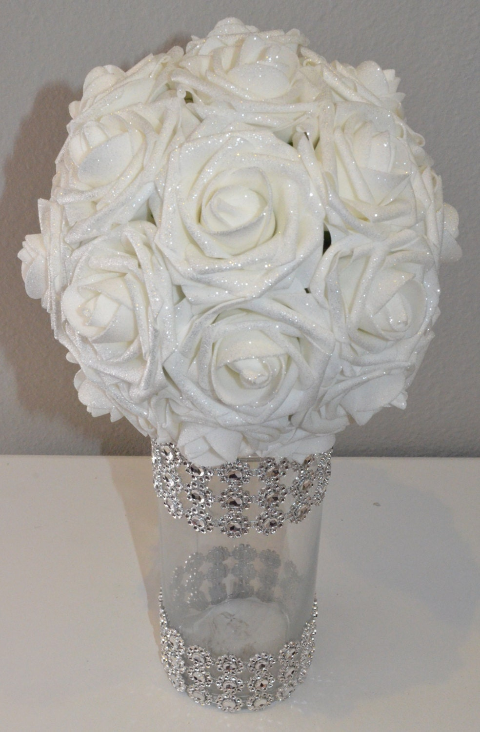 Sparkling shimmer flower ball wedding centerpiece