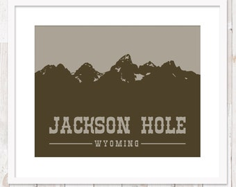 Jackson Hole, Wyoming ~ Teton Mountains ~ Art Print ~ Many Sizes Available ~ Many Colors Available