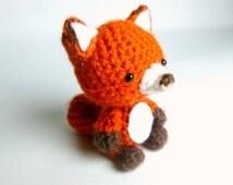 Crochet Animal Crochet Fox Plush | Fox Crochet Animal | Amigurumi Fox | Plush Fox Stuffed Animal | Red Fox Plush | Crochet Amigurumi