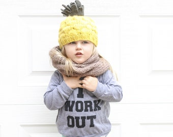 Pineapple Hand Knit Hat for Baby and Child
