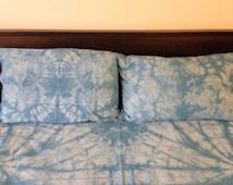 Shibori Queen Duvet Cover -  Nautilus Pattern