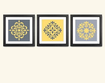 Kitchen Wall Art - Kitchen Wall Decor - Kitchen Print Set - Kitchen Art - Modern Kitchen Print Set - Abstract Wall Art - Pattern Wall Art