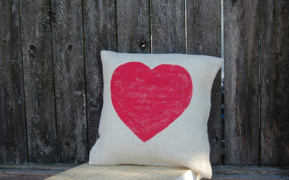 Heart Pillow,Valentines Day Gift, Valentines Day Pillow, Valentine Pillow, Valentine Decor,Valentines Decoration,Rustic Valentines Day Decor