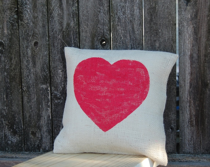 Featured listing image: Heart Pillow,Valentines Day Gift, Valentines Day Pillow, Valentine Pillow, Valentine Decor,Valentines Decoration,Rustic Valentines Day Decor