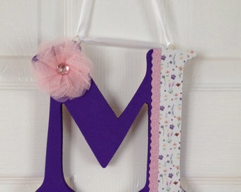 Custom hand-crafted hanging letters