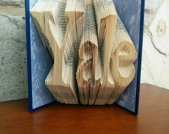 Yale - Folded Book Art - Fully Customizable, University gift