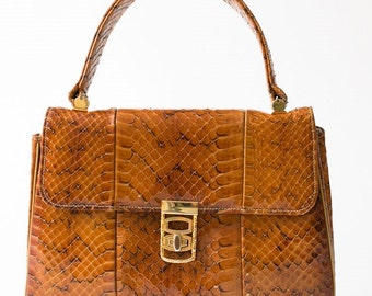 VTG Stylecraft of Miami Snakeskin Handbag