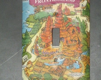 Disneyland Map - Frontierland Light Switch Cover