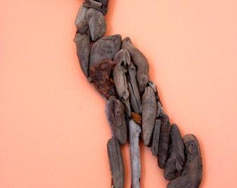 Egret Driftwood Wall Art