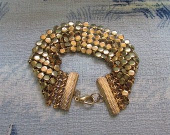 1980s/early 1990s gold-tone chain-metal-style bracelet
