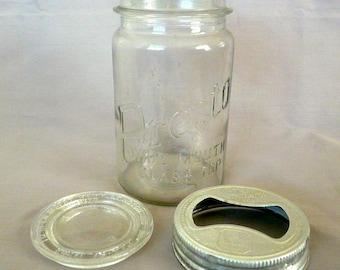 Antique Presto Glass Jar