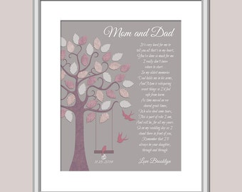 Wedding Mom And Dad - Thank You Parents Wedding - Wedding Poem For Parents - Mom And Dad Poem - Personalized Wedding Gift - Wedding Print