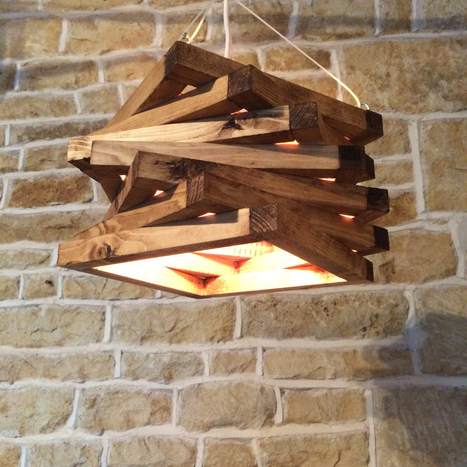 Ceiling Lights Rustic : Rustic wood light ceiling fixture