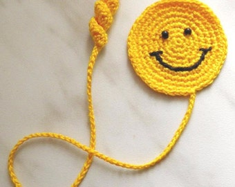Smile Crochet Bookmark Smiling face Book Accessories Happy face