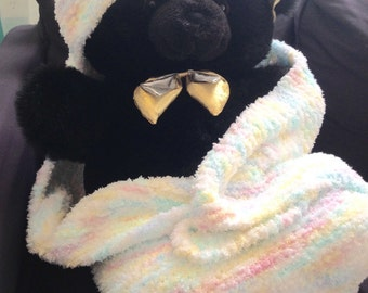 Hooded Fuzzy Baby Blanket
