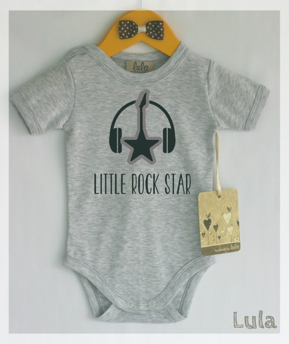 little rock star baby clothes cool and funny baby romper with. Black Bedroom Furniture Sets. Home Design Ideas
