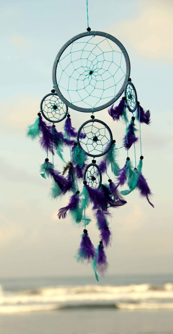 Indian dreamcatcher green tosca and purple dreamcatcher for Acchiappasogni disegno
