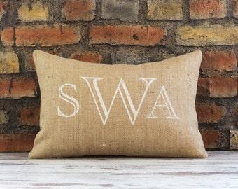 monogram pillow, personalized pillow, throw pillow, monogrammed pillow, monogram, personalized gift, decorative pillow, monogram pillow case