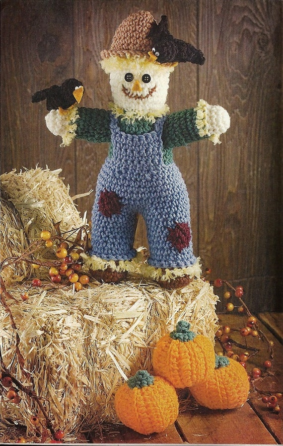 Items similar to scarecrow pumpkin crochet pattern autumn for Scarecrow home decorations co ltd