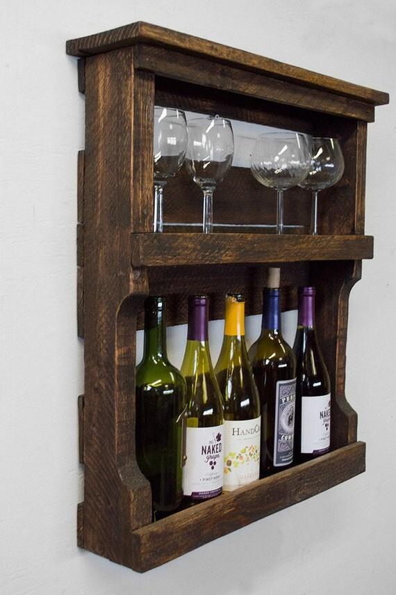 palette wine rack rack vin bois rustique par bydadanddaughter. Black Bedroom Furniture Sets. Home Design Ideas
