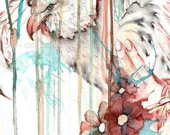 "Fantasy art print ""Eagle"" - 21x29cm Fine Art print"