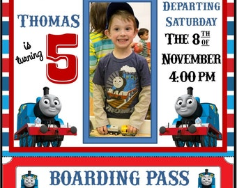 thomas train invites  etsy, Party invitations