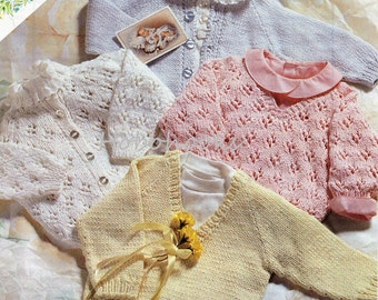 Baby Knitting Pattern Girls Knitting Pattern Bolero By