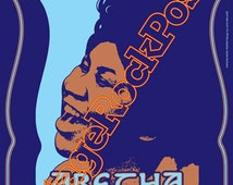 615 - Aretha FRANKLIN  - Los Angeles, US - 13 january 1973 - artistic concert poster