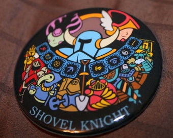 "Shovel Knight - 2.25"" Inch button"