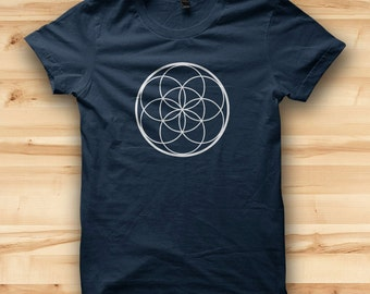 Geometric Artwork // Sacred Geometry // Mens T Shirt // Mens Graphic Tee // Circle Pattern // Hipster Clothing // Mandala Art