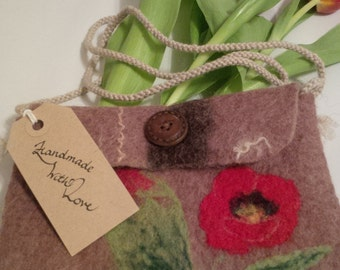 SALE!!! Needle Felted Small Bag Free UK Shipping