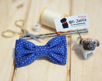 Dog Bow Tie | Tiny Hearts Blue