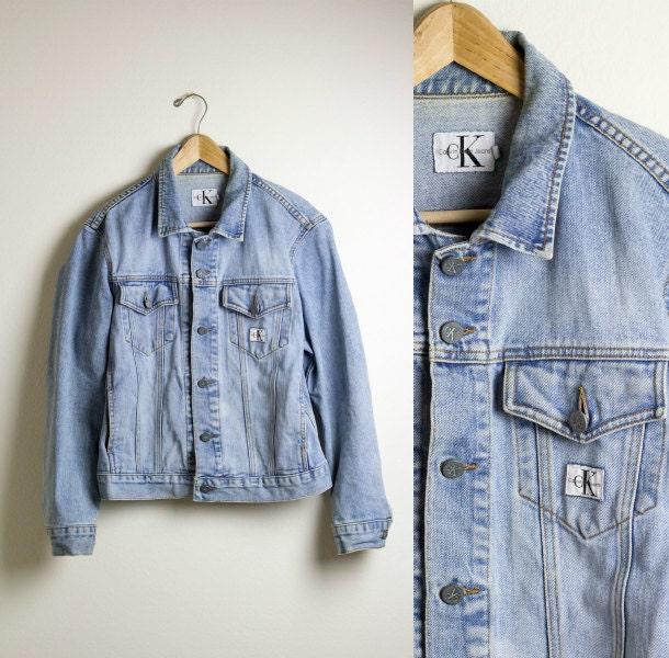 CALVIN KLEIN JACKET / denim jacket / jean jacket / grunge / ck