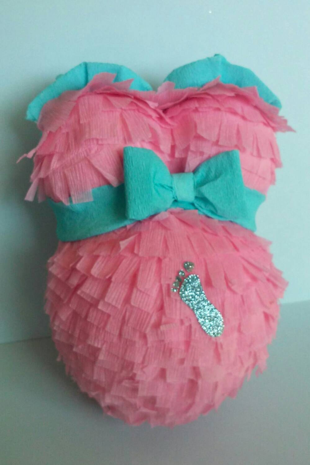 cute pregnant belly pinata for baby shower gender reveal