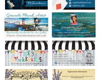 Business Card Design, Custom Business Card Design, Etsy Card Design, Stylist Business Card, Realtor Business Card, Printable Card Design