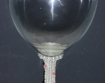 Personalised Diamante/Pearl Glass (Perfect for Weddings,Parties,) -Any Colour/Style!