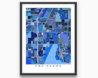 Las Vegas Map Print, Las Vegas Art, Las Vegas Strip, Paradise Nevada
