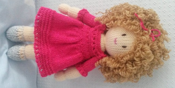 Hand Knitted Toys : Hand knitted doll