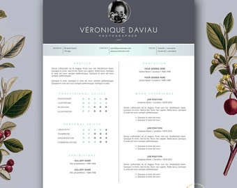 Resume template feminine resume and free cover letter resume template and free cover letter 3 page modern cv template creative resume template yelopaper Choice Image