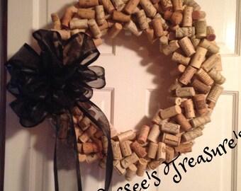 Wine Cork Wreath,Door Decor, Wall Art, Wine corks