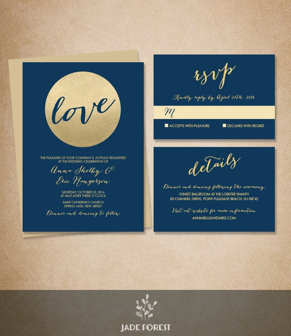 This beautiful Wedding Invitation Suite is just what you need to announce your upcoming wedding in style. It will be customized just for you!  ▶ ORDERING & PERS