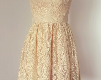 RM Champagne Lace Dress