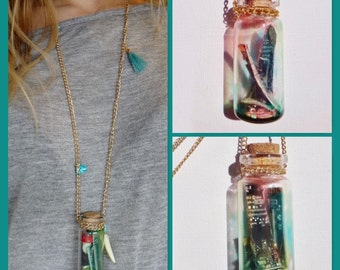Technology in a Bottle Necklace