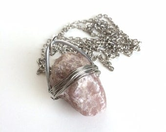 Purple Aventurine Wire Wrapped Necklace