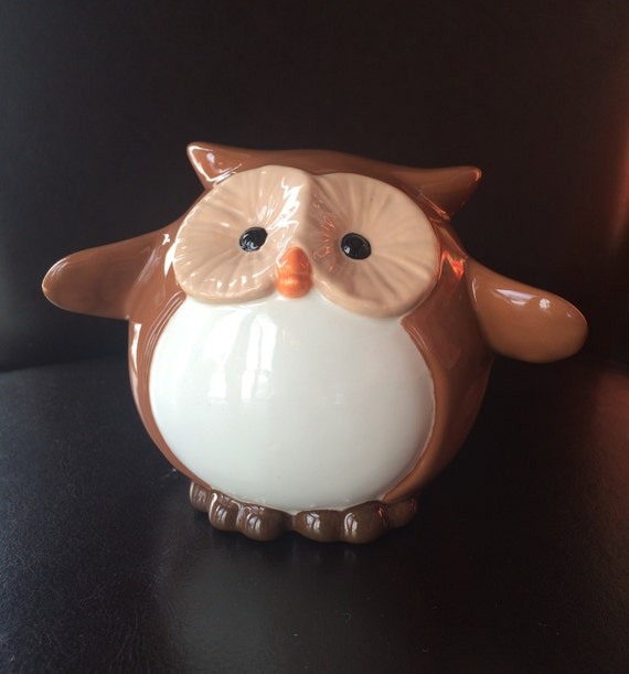 Baby Gift Piggy Bank : Items similar to owl piggy bank personalized baby gift